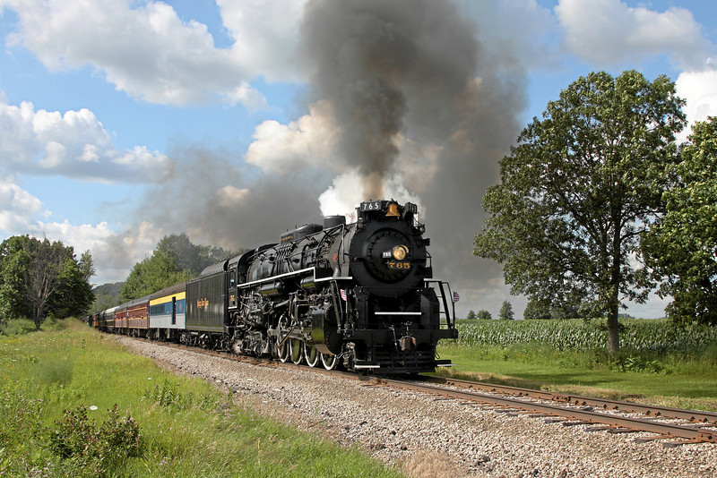 Nickel Plate 765 at Elsie, Michigan (Maple Rapids Road)
