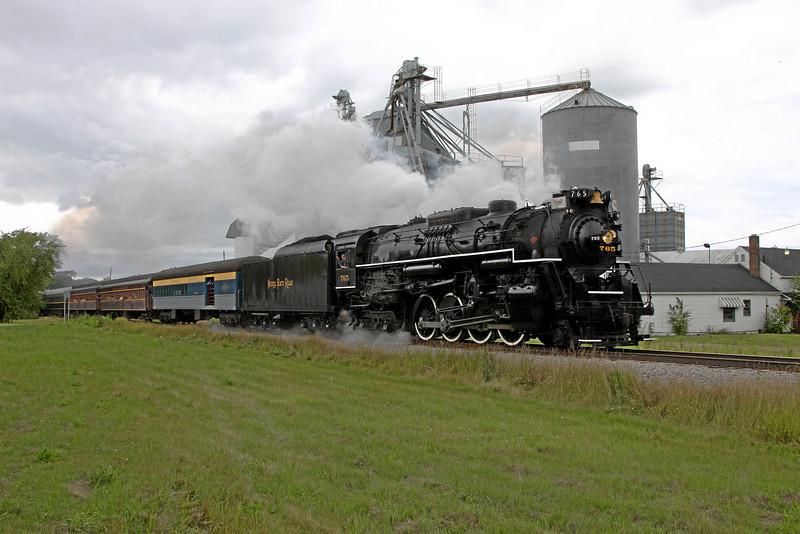 Nickel Plate 765 at North Star, Michigan (Buchanan Road)