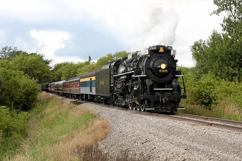 Nickel Plate 765 at Carland, Michigan (Riley Road)