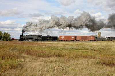 Nickel Plate 765 at Carland, MI (approaching Baldwin Road)