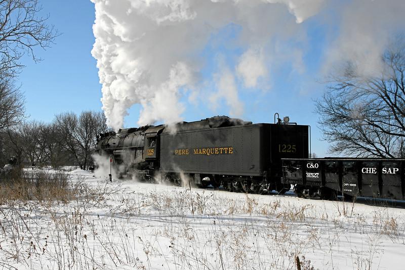 Pere Marquette 1225 at Henderson, Michigan