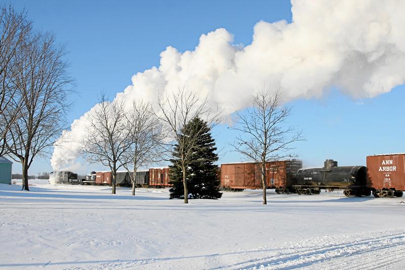 Pere Marquette 1225 at Oakley, Michigan