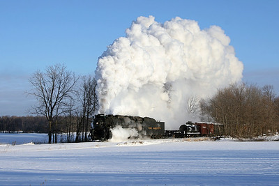 Pere Marquette 1225 at Oakley, Michigan