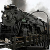 Pere Marquette 1225 at the steam shop in Owosso, Michigan