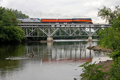 Southern Pacific Daylight 4449 at Niles, Michigan (St. Joseph River)