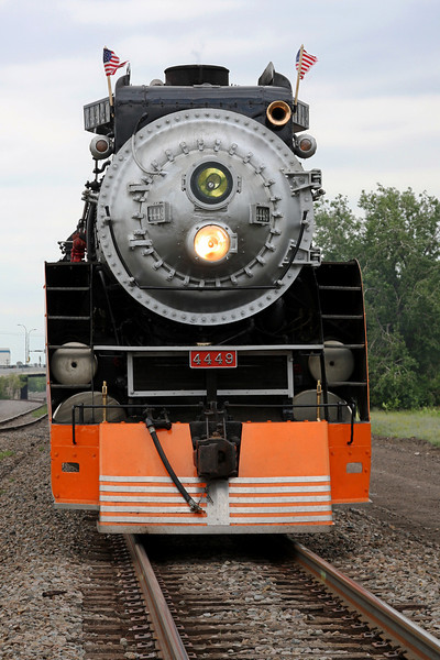 Southern Pacific Daylight 4449 at Minneapolis, Minnesota (Minneapolis Junction)