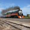 Southern Pacific Daylight 4449 at Pleasant Lake, North Dakota