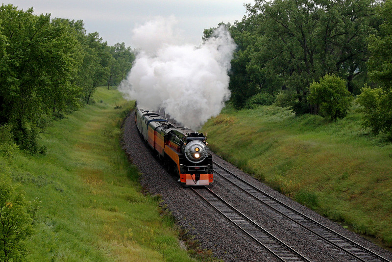 Southern Pacific Daylight 4449 at Hawley, Minnesota