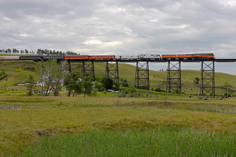 Southern Pacific Daylight 4449 at Minot, North Dakota (Gassman Coulee Trestle)