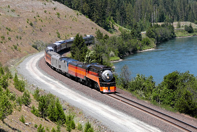 Southern Pacific Daylight 4449 at Troy, Montana (Kootenai River)