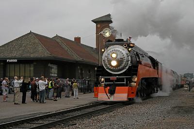 Southern Pacific Daylight 4449 at Fargo, North Dakota (Amtrak station)