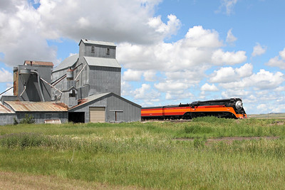 Southern Pacific Daylight 4449 at Bainville, Montana