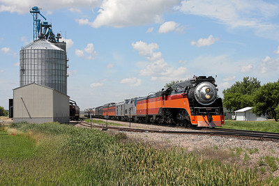 Southern Pacific Daylight 4449 at Arvilla, North Dakota