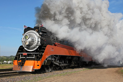 Southern Pacific Daylight 4449 at Minot, North Dakota