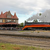 Southern Pacific Daylight 4449 at Durand, Michigan<br /> (Amtrak station)