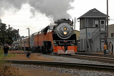 Southern Pacific Daylight 4449 at Kalamazoo, Michigan
