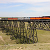 Southern Pacific Daylight 4449 at Cut Bank, Montana<br /> (Cut Bank Creek Trestle)