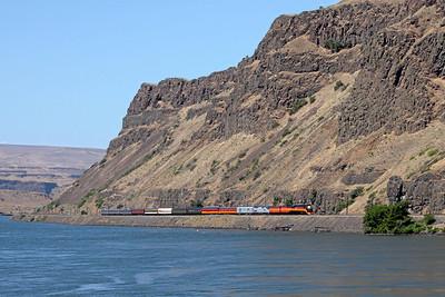 Southern Pacific Daylight 4449 at Maryhill, Washington (Columbia River Gorge)