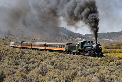 LS&I #18 eastbound at milepost 218, approaching Wagon Creek Junction (September 2012)