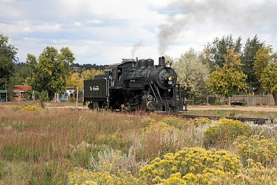 LS&I #18 on the wye at La Veta (October 2008)