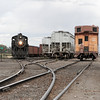 LS&I #18 exits the west end of SLRG's Alamosa yard (August 2011)
