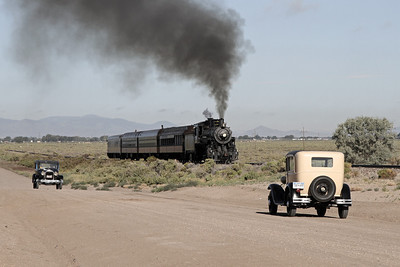 LS&I #18 steams east near milepost 245, east of Alamosa (August 2011)