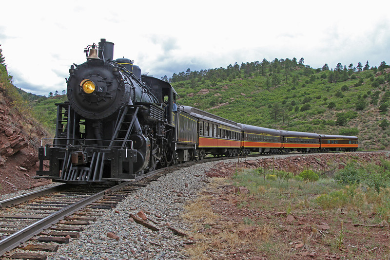 LS&I #18 eastbound at milepost 198.5, just east of Lower Tunnel (August 2011)