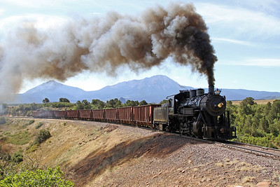 LS&I #18 eastbound at milepost 194.5, four miles west of La Veta (August 2011)