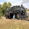 LS&I #18 is serviced on the wye at La Veta (September 2007)