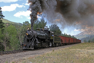 LS&I #18 westbound at Codo, milepost 201.9 (August 2011)
