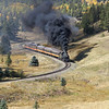 LS&I #18 eastbound approaching Mule Shoe Loop and Fir (September 2012)