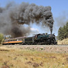 LS&I #18 eastbound at milepost 208.7, approaching Mule Shoe Loop and Fir (September 2012)