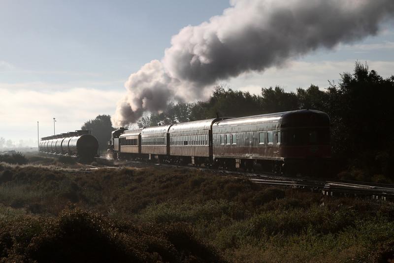 LS&I #18 heads east through the SLRG railroad yard in Alamosa (August 2011)