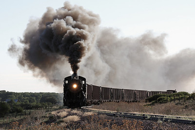 LS&I #18 westbound at milepost 189.3, one mile east of La Veta (August 2011)