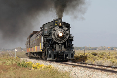 LS&I #18 charges east near milepost 245, east of Alamosa (September 2012)