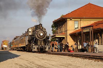 LS&I #18 arriving at the Alamosa Station (September 2012)