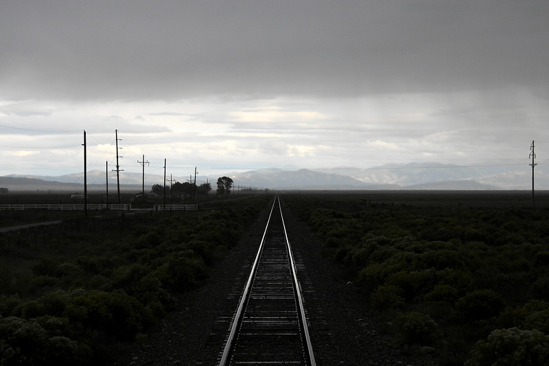 Looking east on the San Luis & Rio Grande Railroad near Blanca (September 2007)