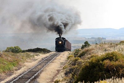 LS&I #18 westbound at milepost 193.3, three miles west of La Veta (September 2012)