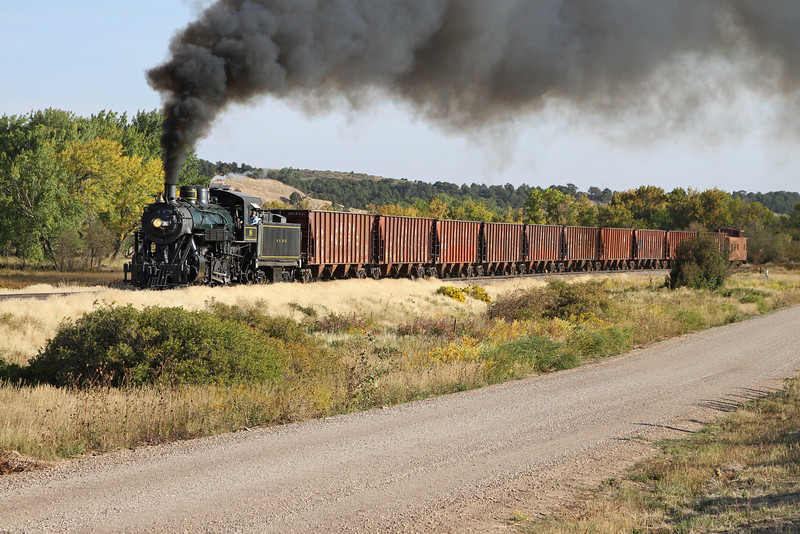 LS&I #18 westbound at milepost 188, two miles east of La Veta (September 2012)