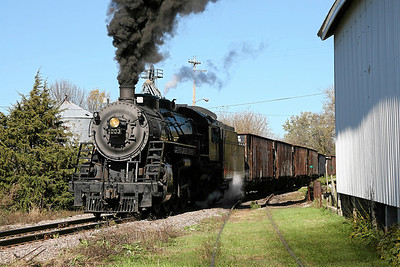 Soo Line 1003 exits the wye at Brandon and heads south toward Horicon, Wisconsin.