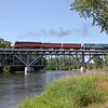 SP Daylight 4449 crossing the St. Joseph River at Niles, Michigan