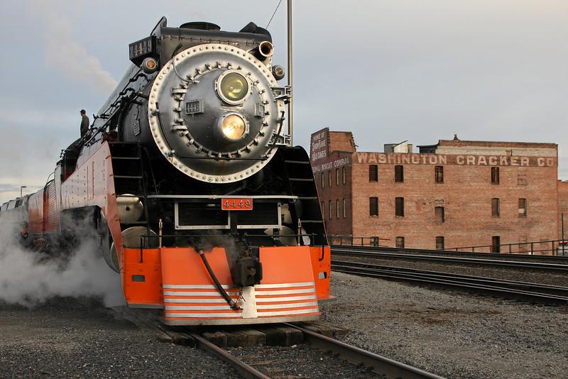 SP Daylight 4449 at Spokane, Washington