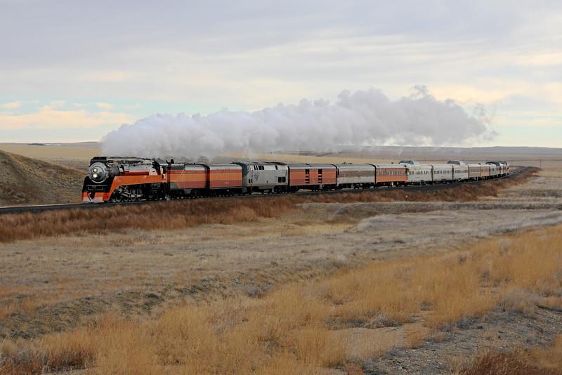 SP Daylight 4449 near Devon, Montana