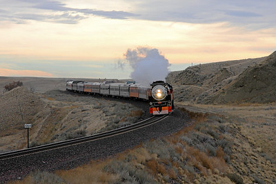 SP Daylight 4449 approaching Shelby, Montana