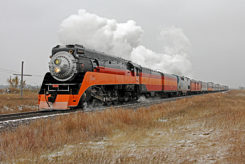 SP Daylight 4449 at Surrey, North Dakota