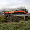 SP Daylight 4449 at Harwood, North Dakota<br /> (Sheyenne River Bridge)