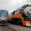 SP Daylight 4449 at Williston, North Dakota (alongside Amtrak's westbound Empire Builder)