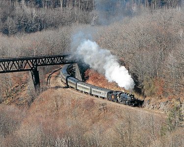 Steamtown excursion at Dunmore - November 25, 2006
