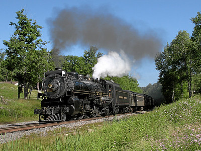 Steamtown excursion at Lehigh (Gouldsboro) - June 30, 2007