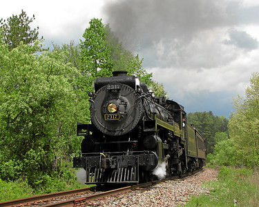 Steamtown excursion at Analomink - May 19, 2007